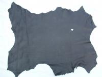 Hirschleder, ganze Haut,  0,83 qm, 1,2 mm dick, schwarz