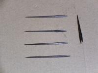 Rundahle, 47 mm x 1,6 mm, gebläut