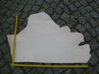 Rindleder, 0,42 m², halber Rindlederhals, vegetabil, naturell, 3,2 mm Stärke, Blankleder