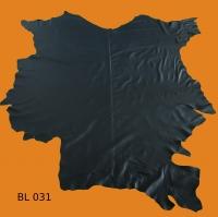 Rindleder, 4,91 m², ganze Haut, vegetabil, 1,1 mm Stärke, dunkelblau, pflanzlich gegerbt