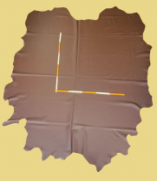 Rindlederhaut 5,39 m², braun, 1,0-1,2 mm (BR 200) Polsterleder