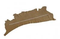 1/2 Nubuk Lederhaut hell-braun Rindleder, zugfestes Leder