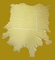 Zwei Rindlederhäute 9,42 m², sahara-gelb, 1,2-1,4 mm (WT 071/ 072) Polsterleder