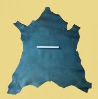 Design-Leder, grün, Kalbleder, oberflächengefärbt, kopfgedeckt, 1,5-1,7 mm, Täschnerleder