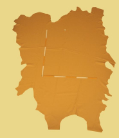 Rindlederhaut 4,80 m², dunkelbraun, 1,4-1,6 mm (BR 132) Polsterleder