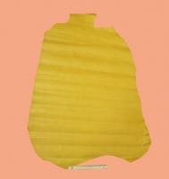 Täschnerleder, gelb, Jungalligator-Optik, Rindleder, zugfest, D=0,9-1,0 mm