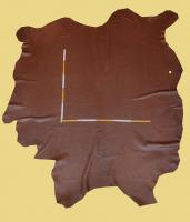 Anilin-Rindlederhaut 5,69 und 6,17 m², Muskat-braun, 1,4 mm (BR 330) Polsterleder