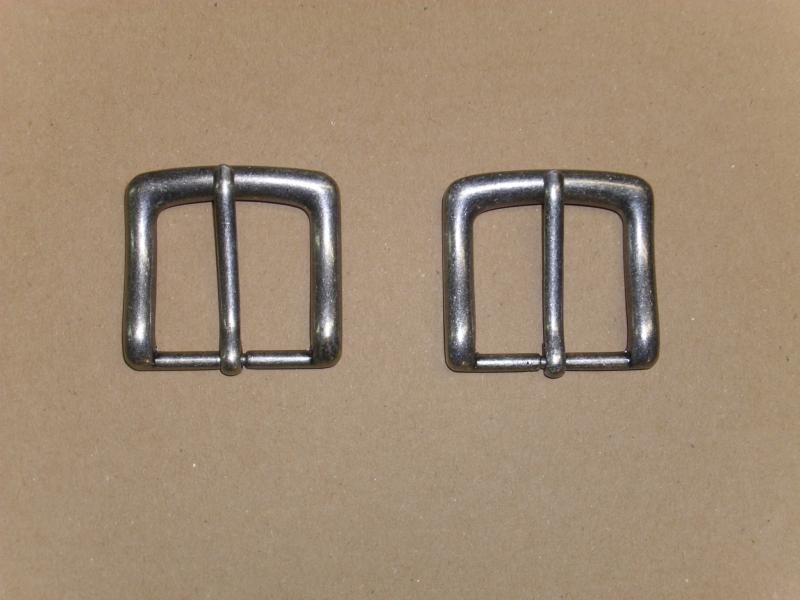 Gürtelschnalle, 40 mm, vernickelt-antiknickel, Gürtelschließe
