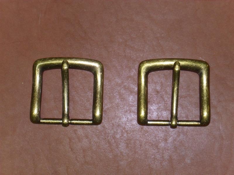Gürtelschnalle, 40 mm, altmessing, Gürtelschließe