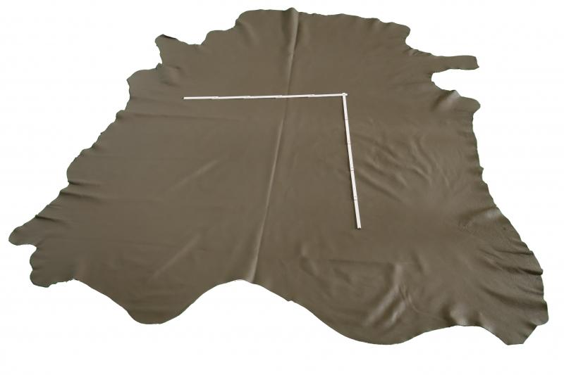 Rindlederhaut 5,04 m², olivgrün, 2,0 - 2,1 mm (GN 038) Polsterleder