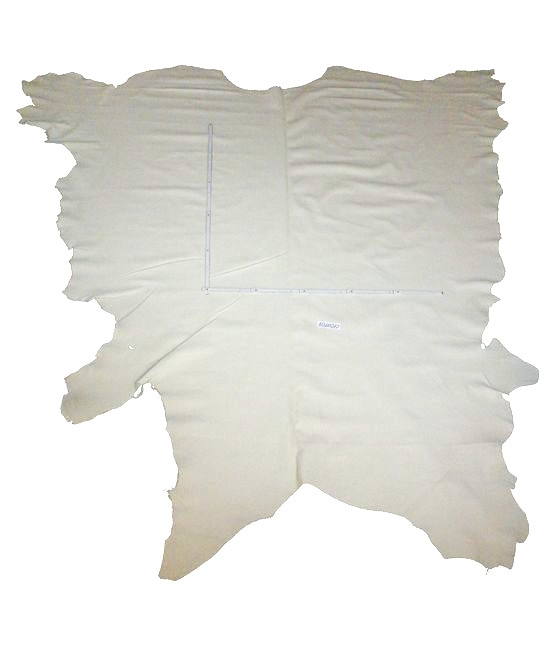 Rindlederhaut 5,11 m², Cremeweiß, 1,7-1,8 mm (HL 086) Polsterleder