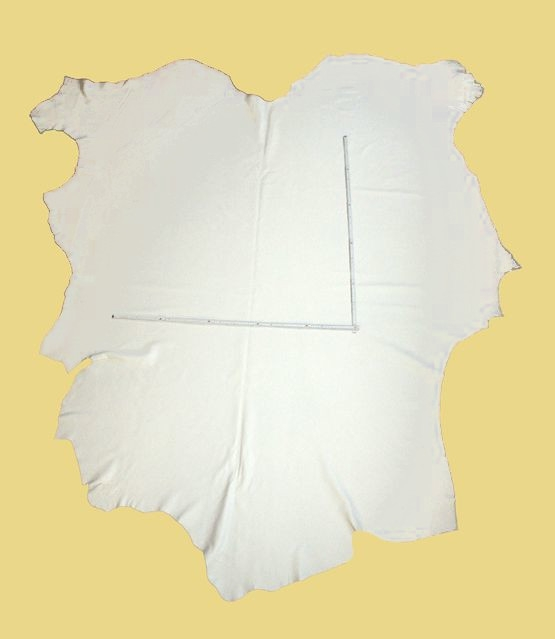 Rindlederhaut 4,52 m², weiß, 1,6-1,7 mm (WS 027) Polsterleder