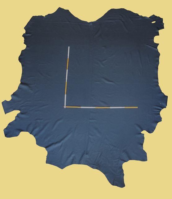 Rindlederhaut 5,63 m², Graphit-grau 1,5-1,7 mm, Polsterleder (GR 003)