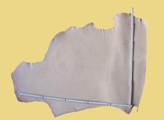 Blankleder vegetabil, naturell, 0,66-0,92 m², 2,4-2,8 mm