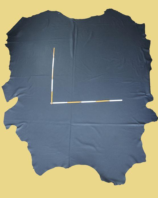 Rindlederhaut 6,65 m², Anthrazit-grau, D=1,4-1,5 mm, Polsterleder (GR 004)