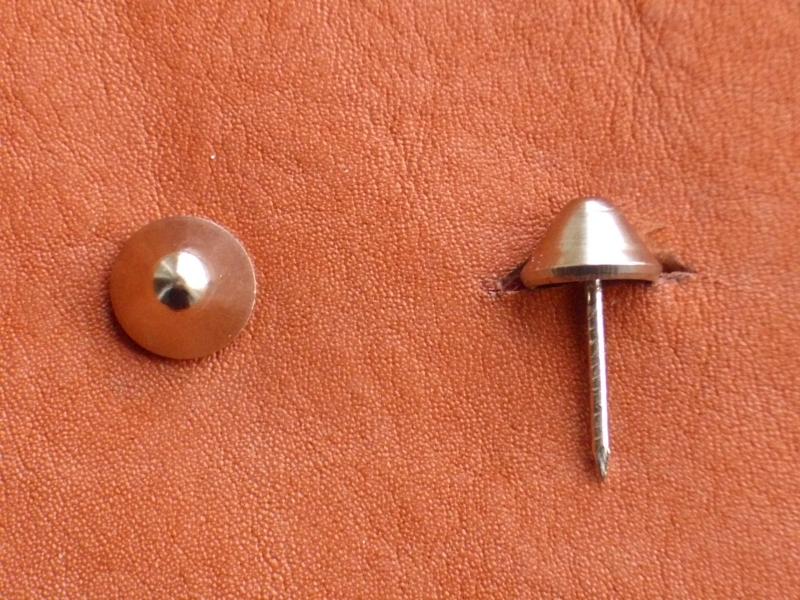 Polsternagel Typ 2, spitze Kopfform, Ø 11,5 mm, vernickelt