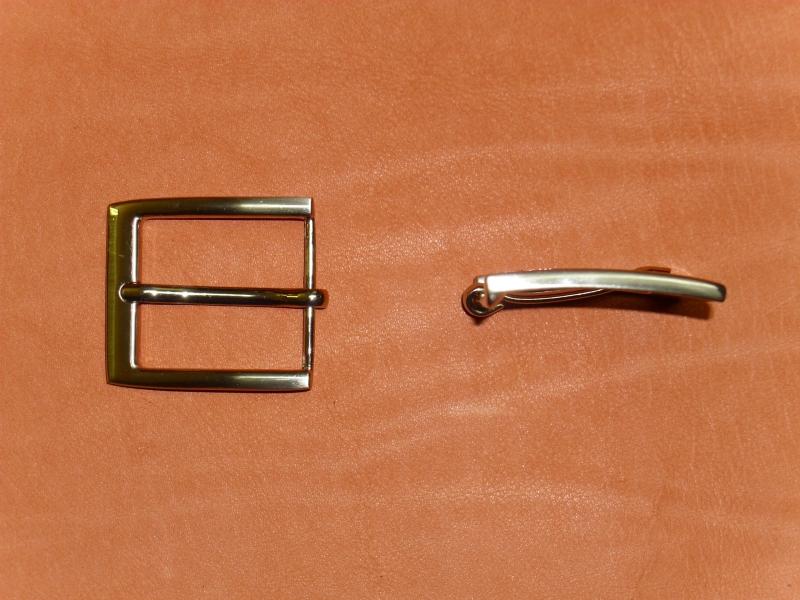 Gürtelschnalle CR-30, 35 mm, satiniert/gebürstet
