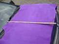 Rindleder, halbe Haut, nubuk Farbe lila