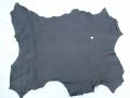 Hirschleder, ganze Haut,  0,95 qm, 1,2 mm dick, schwarz