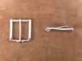 Gürtelschnalle, 40 mm, massiv Edelstahl, Rollschnalle, Gürtelschließe