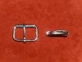 Gürtelschnalle, 50 mm, massiv Edelstahl, Rollschnalle, Gürtelschließe