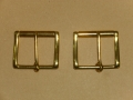 Gürtelschnalle, 50 mm, massiv Messing, Rollschnalle, Gürtelschließe