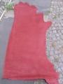 Rindleder, halbe Haut, nubuk Farbe dunkelrot, 2,30 qm, ca. 3 mm dick