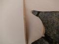 Rindleder, 0,61 m², halber Rindlederhals, vegetabil, naturell, 3,2 mm Stärke