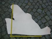 Rindleder, 0,40 m², halber Rindlederhals, vegetabil, naturell, 3,2 mm Stärke