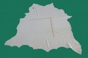 Rindlederhaut 5,39 m², weiß, 1,5 mm (WS 042) Polsterleder