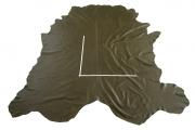 Rindlederhaut 6,36 m², gelboliv, 1,6 mm (GN 040) Polsterleder