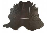 Rindlederhaut 5,99 m², dunkelbraun, 1,0-1,1 mm (BR 254-A) Polsterleder