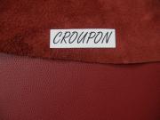 Rindlederhaut 5,81 m², granatrot, 1,6 mm (RO 062) Polsterleder