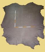 Rindlederhaut anilin gefärbt, 5,27-7,12 m², Antik-Braun, 1,2-1,3 mm (BR 329)