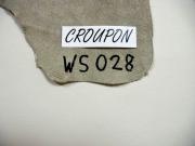 Rindlederhaut 5,88 m², perlweiß, 1,2-1,4 mm (WS 028) Polsterleder
