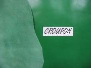 Design-Leder, grün, Rinderflanken, 0,74-0,75 m², Täschnerleder