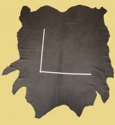 Nubuk-Rindleder, 4,75-5,77 m², dunkel-braun, 1,5-1,6 mm  Polsterleder