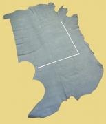 Rindlederhaut Nubuk 4,00 m², hell-blau, 1,4-1,5 mm (BL 034) Polsterleder