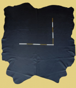 Anschnitt Rindlederhaut, 0,71 m², schwarz 2,0-2,1 mm, Täschnerleder (S 221)