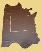 Rindlederhaut 5,84 m², Milchkaffee-braun, 1,2-1,4 mm (BR 166) Polsterleder