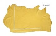 Rindleder Straußenoptik, gelb, Täschnerleder