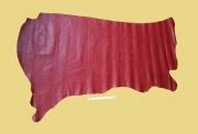 Rindleder Straußenoptik, rot, Täschnerleder, 0,9-1,0 mm (RO 143/ 144)