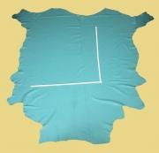 Rindlederhaut türkis-blau, fein genarbt, D=1,1-1,2 mm, Polsterleder