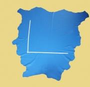 Rindlederhaut helles Blau, fein geprägt, D=1,0-1,2 mm, Polsterleder