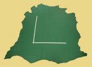 Rindlederhaut grün, fein geprägt, D=1,0-1,2 mm, Polsterleder, Möbelleder