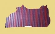 Täschnerleder, Echsenprägung, weinrot changierend, kopfgedeckt, 0,8-1,0 mm, Rindleder
