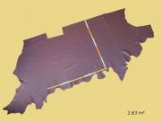 Rindlederhaut rot, fein geprägt, D=1,1-1,2 mm, Polsterleder, Möbelleder