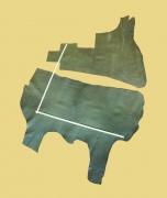 2 Anschnitte Täschnerleder Rinderhälse, wald-grün, 1,60 m²