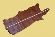 Täschnerleder, braun, Jungkrokodil-Optik, Rindleder, zugfest, D=1,2-1,3 mm, 0,95 m²
