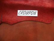 SONDERANGEBOT: Kalbleder, anilin gefärbt,rot-braun, zugfest, Täschnerleder, 5 Häute, D=1,3-1,5 mm, 2,76 m²